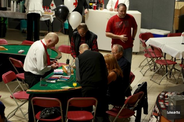 Le casino organisé pour la quatrième année consécutive... (Catherine Trudeau, La Voix de l'Est)