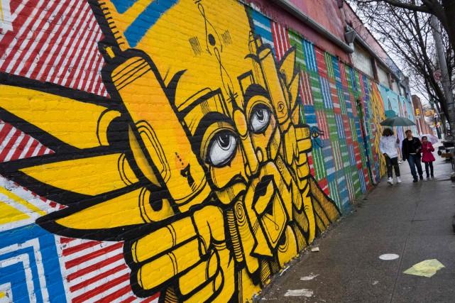 Une fresquemuraledans le Bronx... (AFP, Don Emmert)