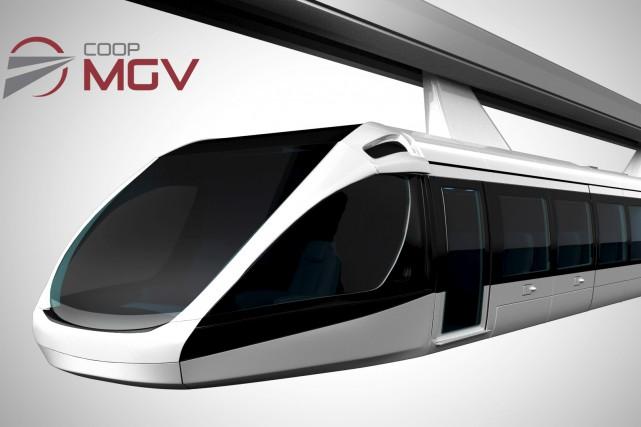 Le dessin artistique du futur monorail à grande... (Photo courtoisie)