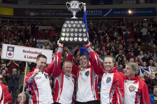 Brad Gushue, Mark Nichols, Brett Gallant, Geoff Walker... (Photo PC)
