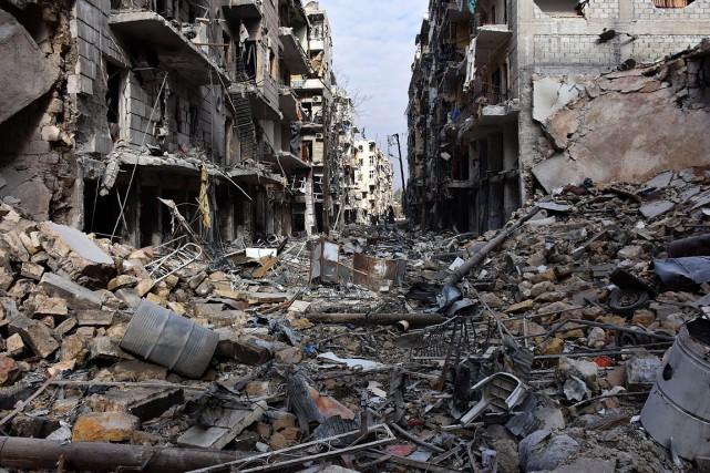 En six ans, la guerre a fait plus... (GEORGE OURFALIAN, archives AFP)