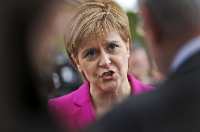La première ministre écossaise Nicola Sturgeon a fait... (AP, Frank Augstein)