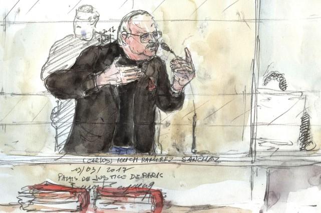 Ilich Ramírez Sánchez, surnommé «Carlos le Chacal», était... (AFP, Benoit Peyrucq)