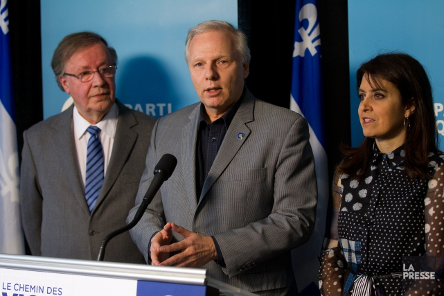 En conférence de presse lundi,le chef du Parti... (Photo PHOTO Martin Chamberland, archives LA PRESSE)