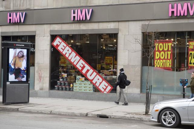La fermeture de HMV a entraîné celle de... (La Presse canadienne, Paul Chiasson)