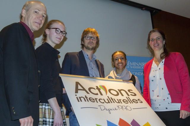 Mohamed Soulami, d'Actions Interculturelles, Sophie Bernatchez, au Séminaire,... (Spectre Média, Marie-Lou Béland)