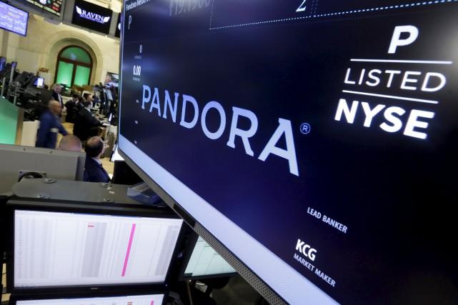 Pandora, qui n'est établi qu'aux États-Unis, en Australie... (Associated Press)