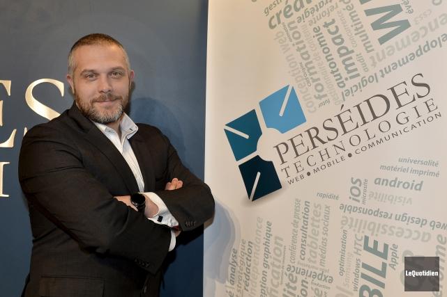 Le président de Perséides Technologie, Christian Desgagné, a... (Photo Le Quotidien, Jeannot Lévesque)