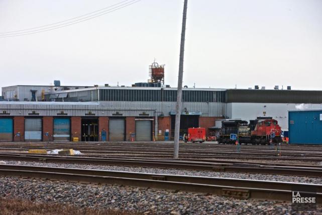La gare de triage de Montréal, oùJarrod Ward... (PHOTO ANDRÉ PICHETTE, LA PRESSE)