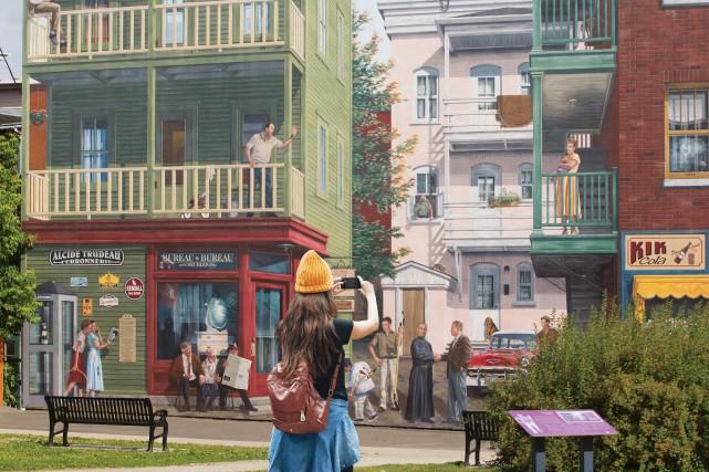 L'animation des murales du centre-ville sera réalisée à... (Photo fournie)