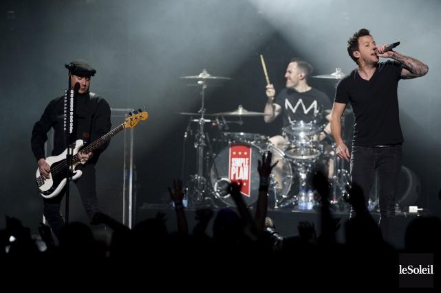 Les nouvelles chansons de Simple Plan ont généralement... (Le Soleil, Jean-Marie Villeneuve)