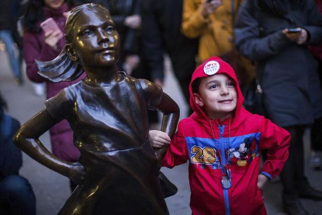 La statue Fearless Girl, oeuvre de la sculptrice... (AFP, Eduardo Munoz Alvarez)
