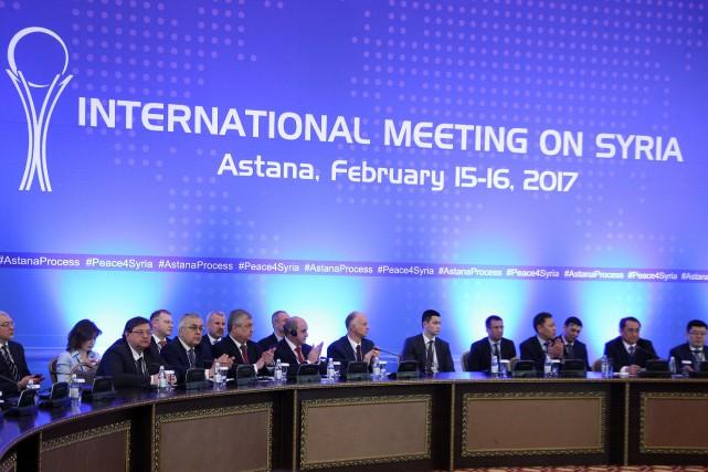 Les derniers pourparlers sur la Syrie avaient eu... (Photo Mukhtor Kholdorbekov, archives Reuters)