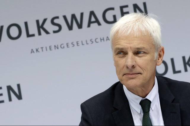 Matthias Mueller, PDG du Groupe Volkswagen, lors de... (photo : AP)