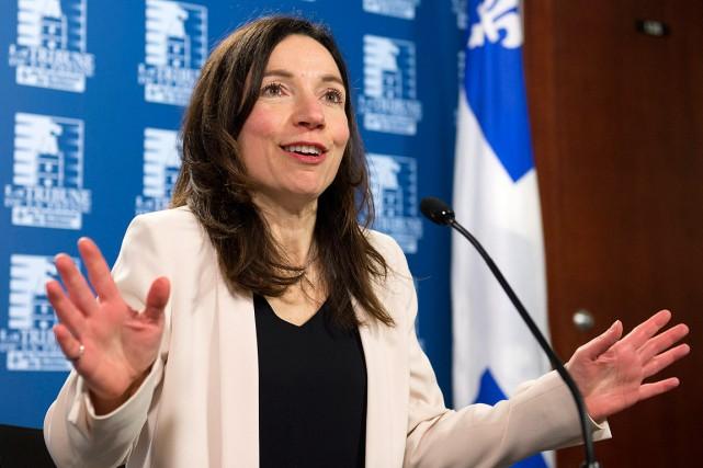 Martine Ouellet est devenue aujourd'hui chef du Bloc... (Photo Jacques Boissinot, PC)