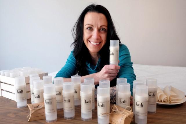 Mélissa Lussier a lancé la gamme de déodorants... (Photo Alain Dion)