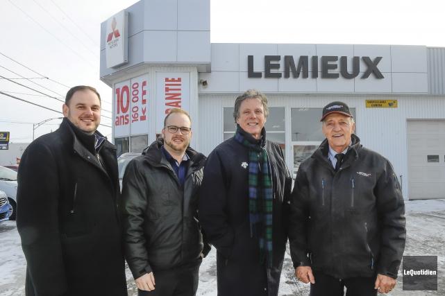 Dave Bradette,Keven Bouchar, Jean Dumas et Raynald Lemieux... (Photo Le Quotidien, Louis Potvin)