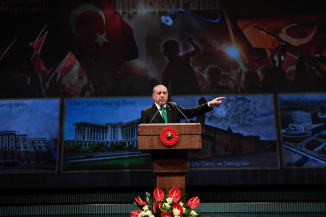 Dans un discours à Ankara, mardi, Recep Tayyip... (PHOTO REUTERS)