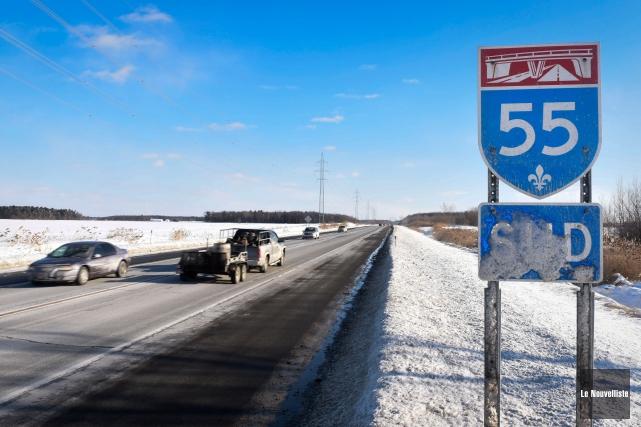 Les partisans du doublement de l'autoroute55 devront prendre... (Francois Gervais, Le Nouvelliste)
