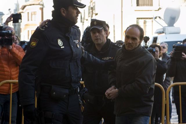 Miguel Ángel Munoz Blas, accusé du meurtre d'une... (AFP, Miguel Riopa)