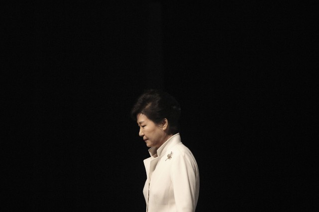 La présidente sud-coréenne destituée Park Geun-Hye... (Photo Ahn Young-joon, archives AP)