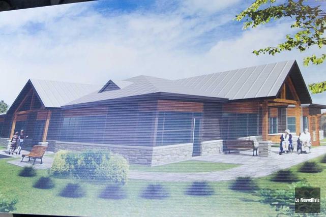 La future Maison des Trois Colombes.... (Sylvain Mayer, Le Nouvelliste)