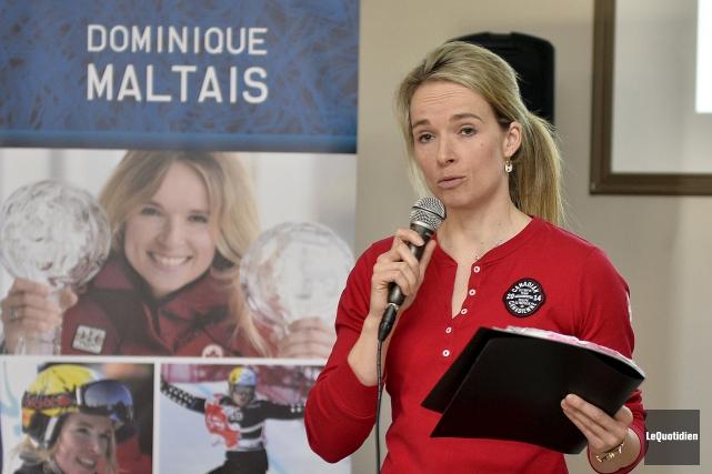 Dominique Maltais a retracé les grandes lignes de... (Photo Le Quotidien, Jeannot Lévesque)