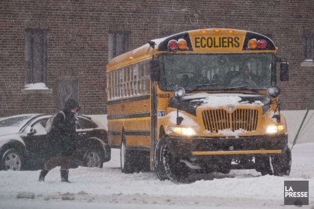 Les élèves de la région peuvent profiter d'une autre journée de congé forcé en... (Archives La Presse)