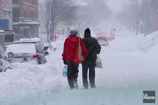 La tempête a bouleversé votre matinée, mais vous avez été témoin d'un acte de... (Photo Martin Chamberland, La Presse)