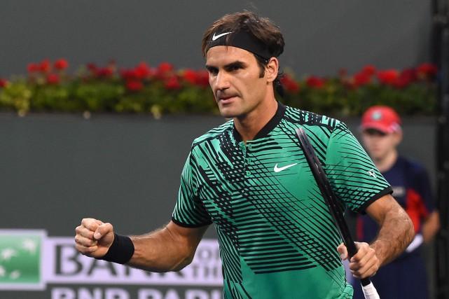 Roger Federera écarté l'Américain Steve Johnson en deux... (Photo Jayne Kamin-Oncea, USA Today Sports)