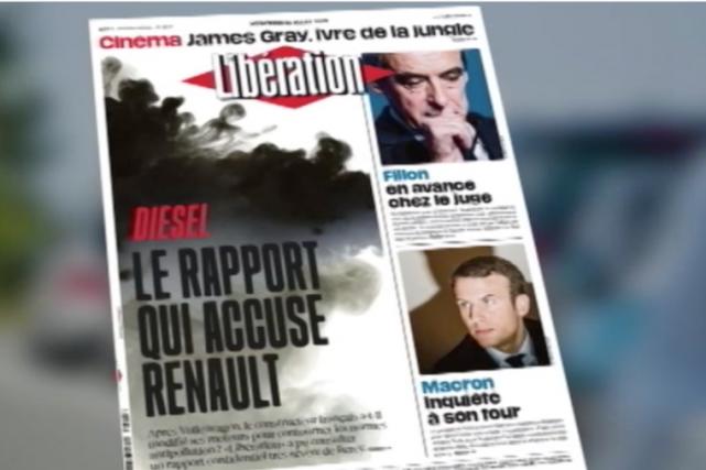 Selon des enquêteurs du gouvernement français, Renault «a... (Photo : saisie d'écran site internet de Libération)