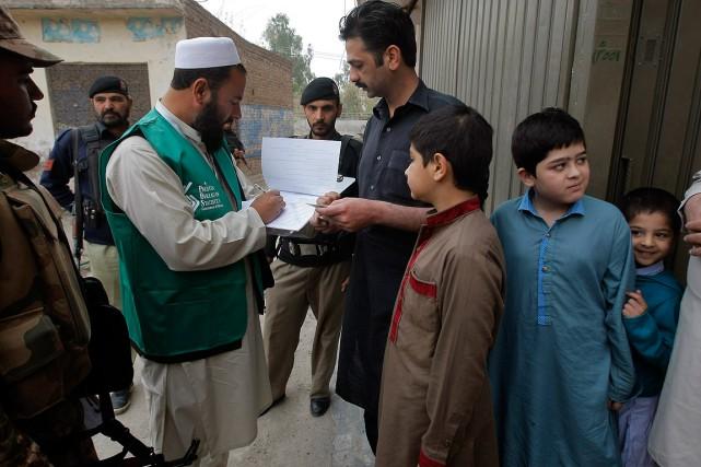 Plus de 300000personnes sont impliquées dans l'exercice, dont... (Muhammad Sajjad, AP)