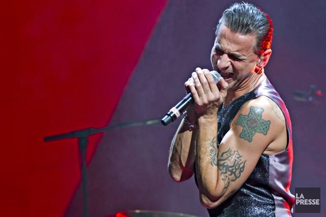 Dave Gahan, chanteur de Depeche Mode, lors d'un... (PHOTO OLIVIER JEAN, ARCHIVES LA PRESSE)