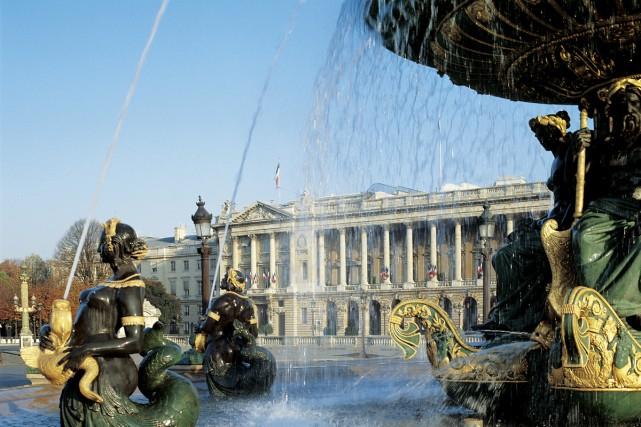 Le célèbre Hôtel de Crillon, palace parisien de la Place de la Concorde et... (photo fournie par l'hôtel de Crillon)