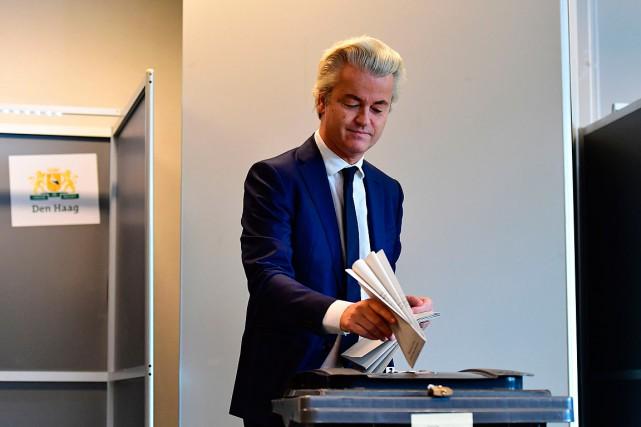 Le politicien d'extrême droite Geert Wilders, lorsqu'il a... (Emmanuel DUNAND, archives AFP)