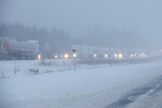 Une portion de l'autoroute 401, près de Kingston,... (La Presse canadienne)