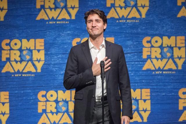 Justin Trudeau s'est adressé au public avant le... (PHOTO PC)
