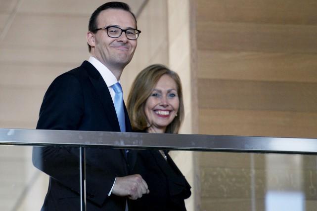 Guy Cormier et Monique F. Leroux, l'actuel et... (Photothèque Le Soleil, Jean-Marie Villeneuve)