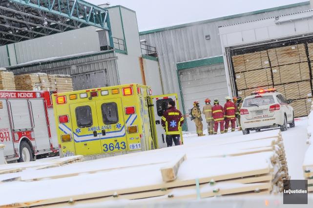 Selon les informations obtenues par Le Quotidien, l'accident... (Le Quotidien, Gimmy Desbiens)