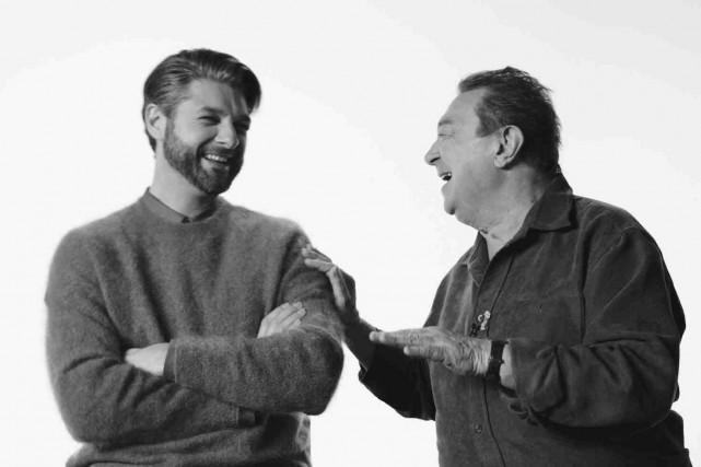 Michel Robidoux (à droite) et le «fils qu'il... (Fournie par Audiogram)
