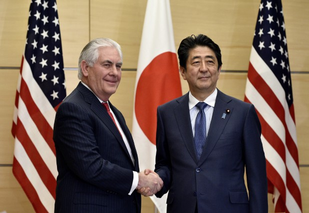 Arrivé mercredi soir au Japon, Rex Tillerson s'est... (Photo Associated Press)