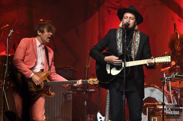 À quelques semaines de la sortie d'un nouvel opus, Arcade Fire a repris du... (PHOTO BERNARD BRAULT, LA PRESSE)