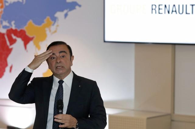 Carlos Ghosn, PDG de l'Alliance Renault-Nissan, lors de... (photo REUTERS)