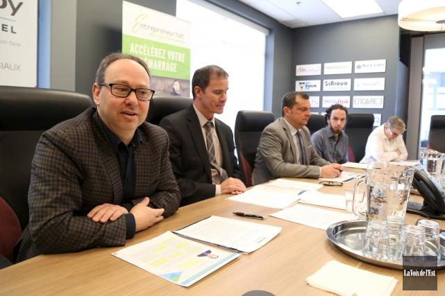 Éric Nadeau, Patrick St-Laurent, Éric Tessier, Frédéric Bonner... (Janick Marois, La Voix de l'Est)