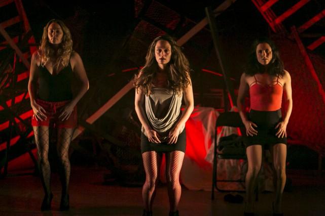 Les interprètes Myriam Brousseau, Catherine Côté et Eve... (Fournie par Premier acte, Cath Langlois Photographe)