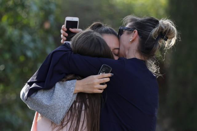 Même si personne n'a été tué, plusieurs élèves... (AFP, Valéry Haché)