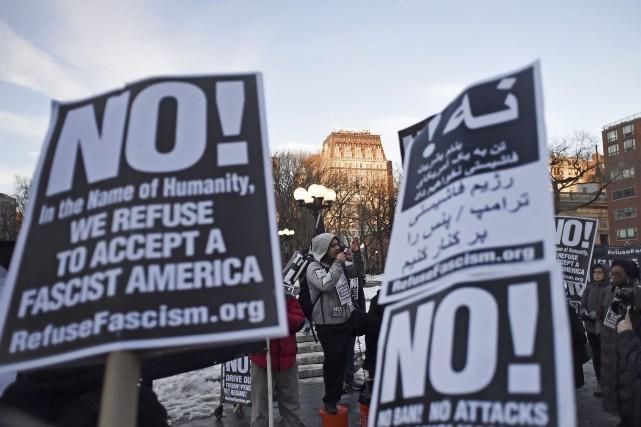 Les manifestations contre le décret migratoire de l'administration... (AFP, Eric Baradat)