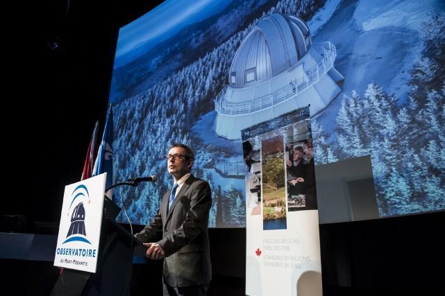 Le directeur de l'Observatoire du Mont-Mégantic, René Doyon,... (Spectre Média : Jessica Garneau)