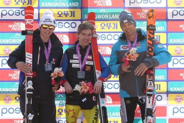L'espoir paralympique Alexis Guimond a raflé l'or en... (Photo tirée du compte Twitter des finales de la Coupe du monde)