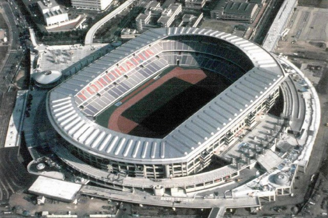 Le stade de Yokohama, situé à 40 km... (Photo Archives Agence France-Presse)